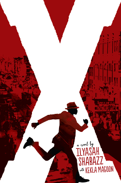 X a novel book cover